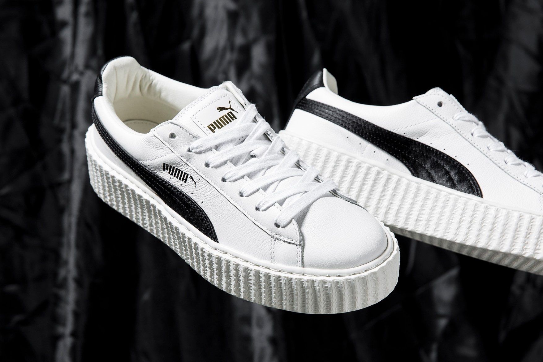 first look at crinkled leather fenty puma creeper hypebae. Black Bedroom Furniture Sets. Home Design Ideas