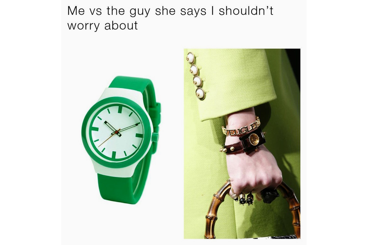 Gucci Memes Watch Collection - 100116