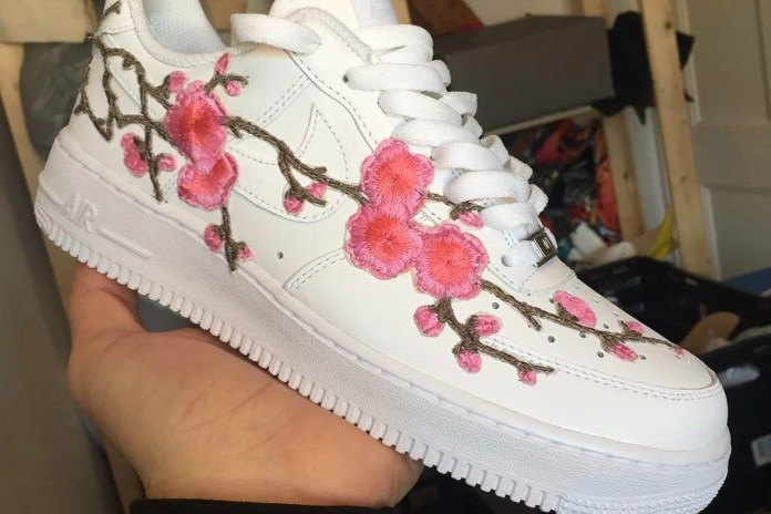 This Gucci-Inspired Air Force 1 Custom Is Blooming With Pink