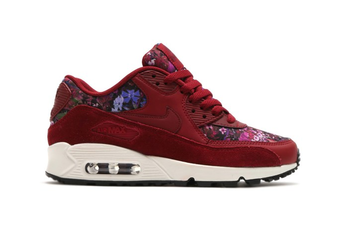 Have a Very Floral Day in This Ruby Red Nike Air Max 90