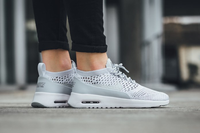 """Nike Updates the Air Max Thea Ultra with a Flyknit """"Pure Platinum"""" Rework"""