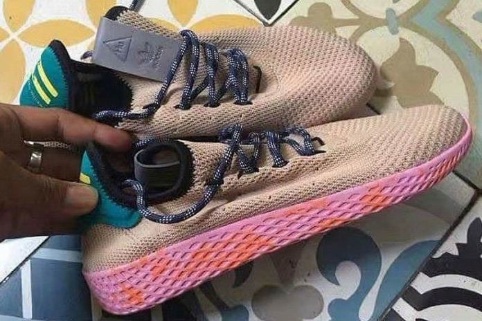 Take Your First Look at Pharrell's Pink-Soled Human Race Sneaker