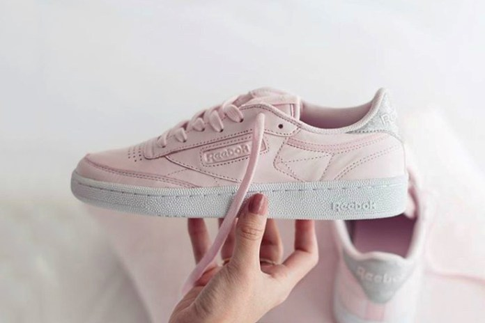 This Reebok Club C Diamond Proves Pink and Grey Sneakers Are a New Thing