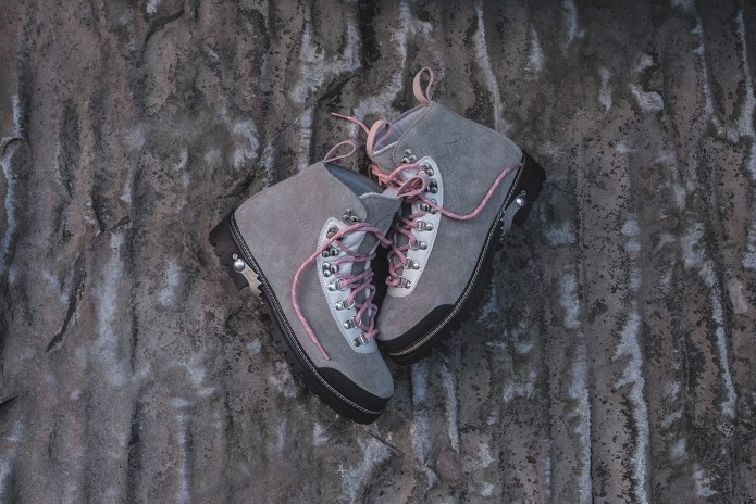 """OFF-WHITE x KITH's """"OFF-PALETTE"""" Hiking Boots Are Topped With a Pretty Pink Touch"""