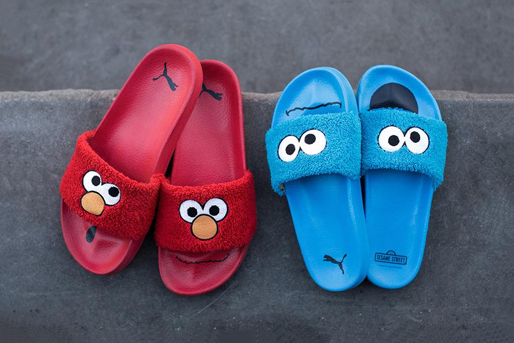 PUMA Slides Sesame Street  Elmo Cookie Monster - 97128