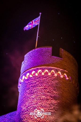 Events-PiratenAbenteuer-Zülpich-Burg-Turm-Flagge-UnionJack-Nacht-Sterne-Baer.Photos-Fotograf-Holger-Bär