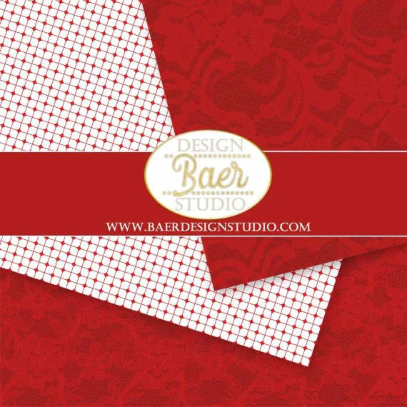 Red Lace Digital Background Paper