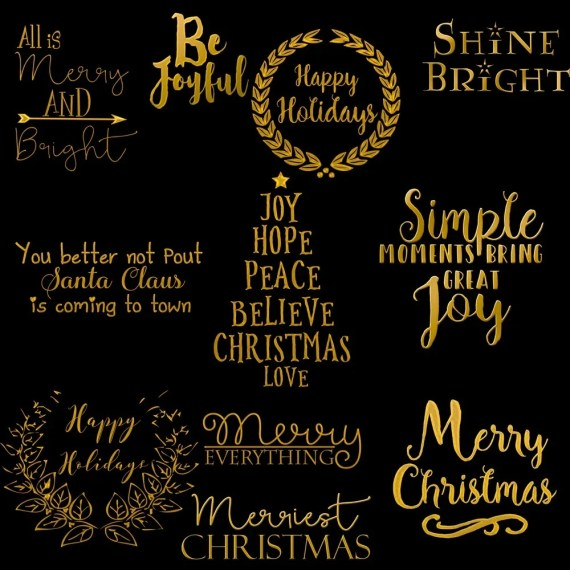 Gold Christmas Card Titles
