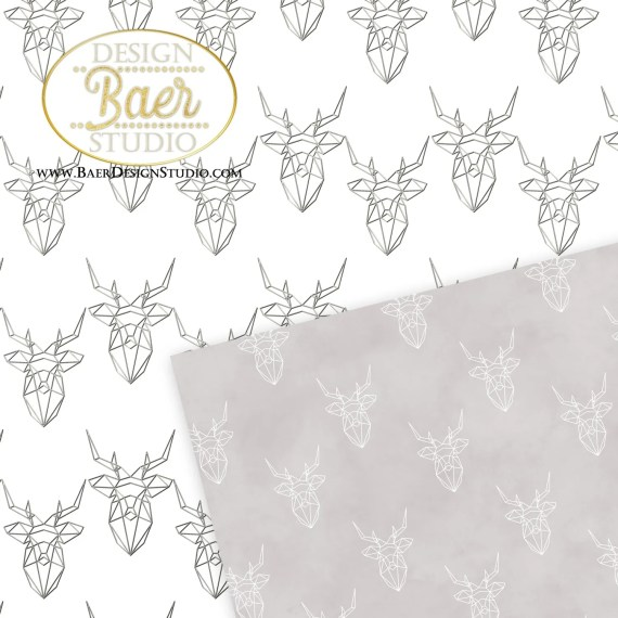 Poly Deer Digital Paper