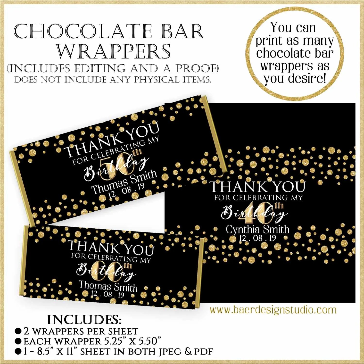 photo regarding Printable Hershey Bar Wrappers known as How towards Deliver Printable Sweet Bar Wrappers Baer Layout Studio