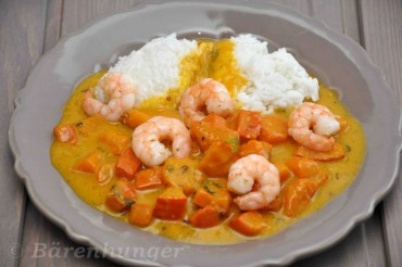 Kürbis Garnelen Curry
