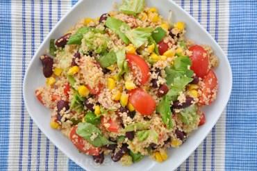 Couscous Salat mit Bohnen und Mais