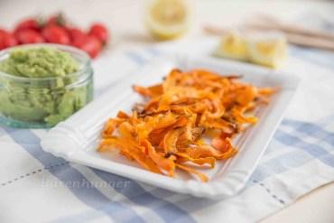 Karotten Chips mit Guacamole