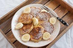 Bananen Haferflocken Pancakes