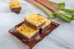 Rhabarber Cheesecake Brownie
