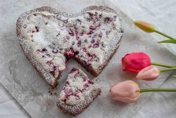 Schoko Baiser Herzkuchen