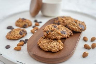 Haferflocken Mandel Schoko Cookies