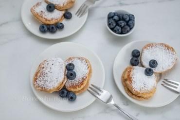 Haselnuss Pancakes mit Heidelbeeren