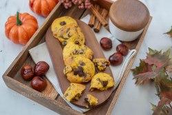 Kürbis Chocolate Chip Cookies mit Maroni