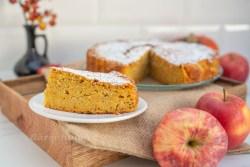Apfel Kürbis Kuchen mit Mandeln