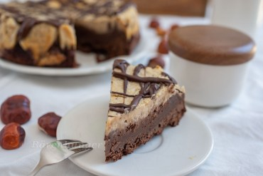 Maroni Cheesecake mit Browie Boden