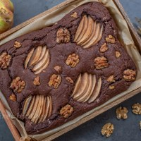 Birnen Walnuss Schokoladen Brownies