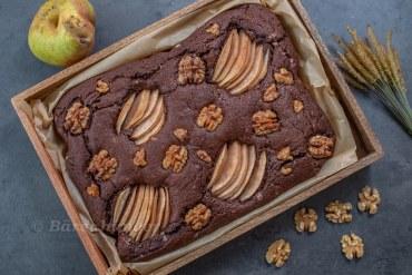 Birnen Walnuss Brownies