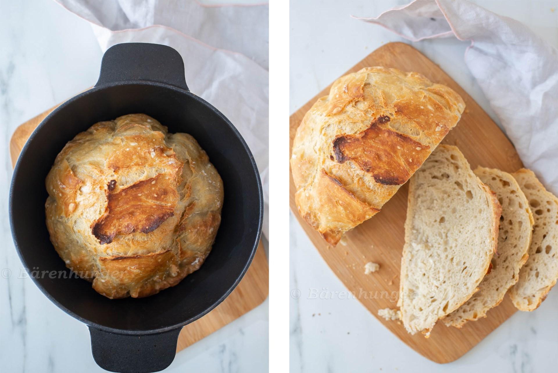 No Knead Bread - Topfbrot