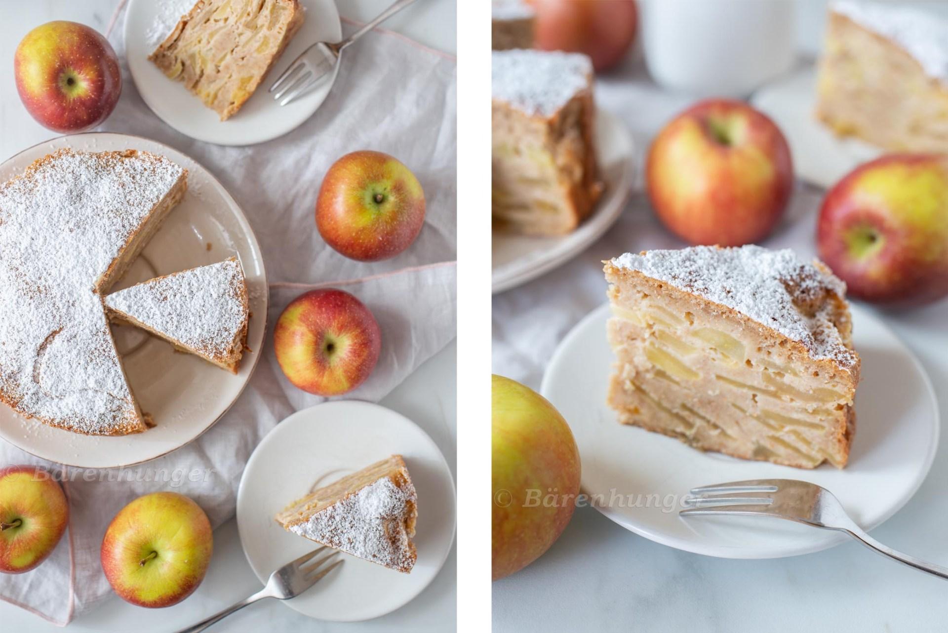 Apfelkuchen - Gâteau invisible aux pommes