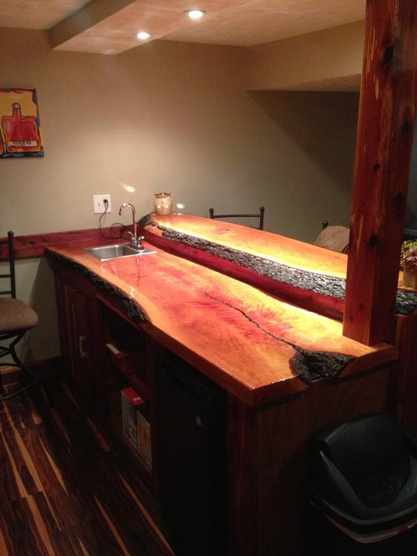 James Risinger Live Edge Cherry Bar Top Bagdad Lumber LLC