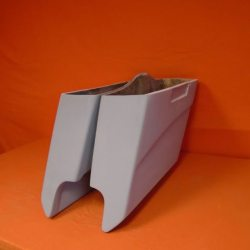 Harley Davidson 5″ Extended Stretched Saddlebags With Cut Outs – No lids