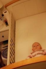 Éowyn in her cot