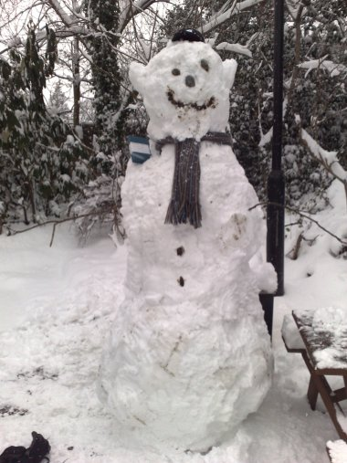 The Finished Snowman