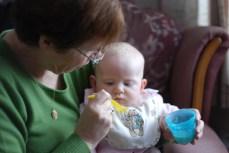 Eating at Nanny Fran's
