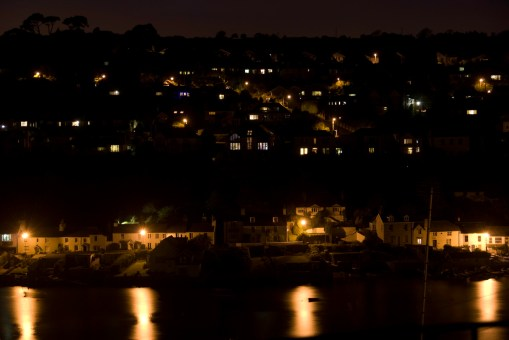 Noss Mayo at night