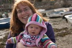 Mommy and Éowyn at the harbour