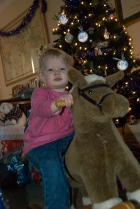 Just riding my horse at Christmas