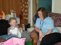 With Auntie Liz