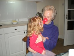A kiss for Nanny