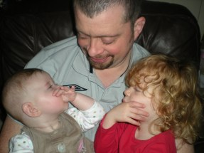 Daddy and his daughters