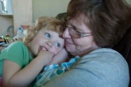 A Nanny Fran cuddle