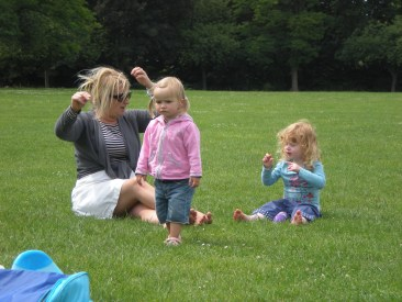Playing in the park