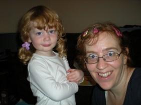 I hairdressered mommy!