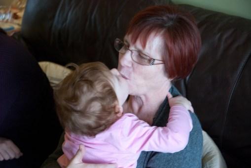 A kiss for Nanny Fran