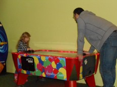 A game of Air Hockey