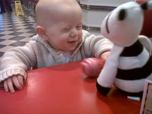 Cute smile for Zebra