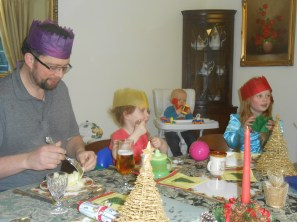 At the Christmas table
