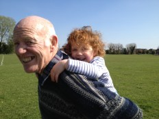 A piggy back from Granddad