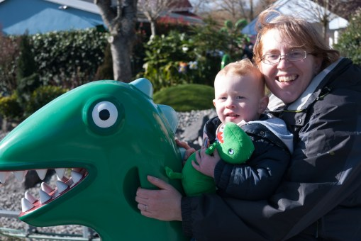 Mommy and Ezra on Mr Dinosaur