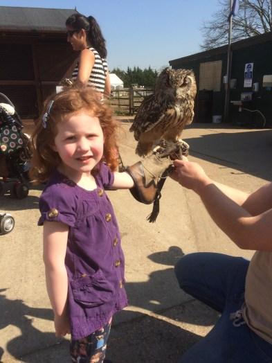 Amélie and an owl